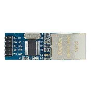 1PCS mini ENC28J60 LAN Ethernet Network Board Module 25MHZ Crystal AVR 51 LPC 3.3V enc28j60 ethernet board controller connect mcu to ethernet network spi serial interface board module