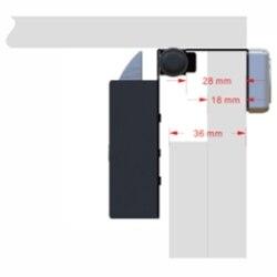 Inteligentny elektryczny Mini zamek linii papilarnych do szafki szuflady szafa okrągły inteligentny elektryczny zamek elektryczny