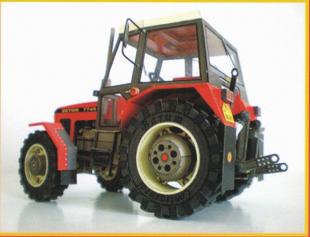 1:32 Czech Zetor 7745-7211 Tractor DIY 3D Paper Card Model Building Sets Construction Toys Educational Toys Military Model 3