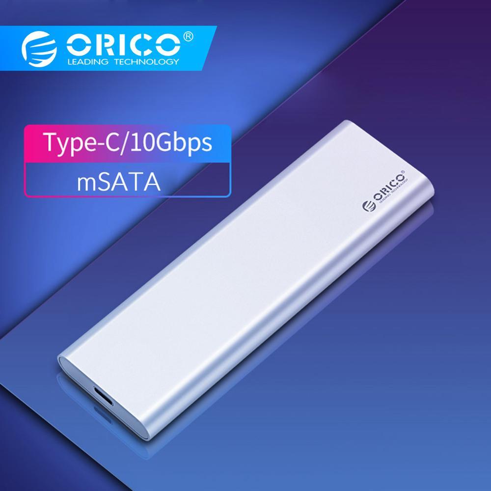 ORICO Dual-bay Type-C 10Gbps MSATA SSD Enclosure Support Raid 0 Raid PM 4TB Max Compatible With Windows/Linux/Mac