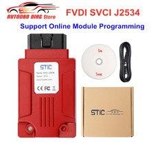 Original FVDI J2534 Car Diagnostic Tool SVCI J2534 Support SAE J1850 Protocol Online Module Programming Better Than ELM327 ELS27