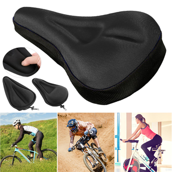 Bicycle Seat Breathable Bicycle Saddle Seat Soft Thickened Mountain Bike Bicycle Seat Cushion Cycling Gel Pad Cushion Cover coolchange cycling bicycle seat cover with breathable liquid silicone gel mtb road mountain bike saddle cover hollow cushion