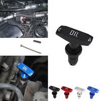 Car Oil Dipstick Pull Handle Engine Oil Pullhandle Aluminum Billet Black Blue Red Brand New Universal Automobile Replacement