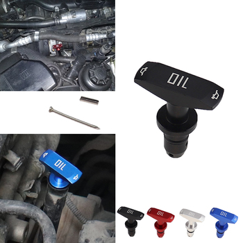 Óleo do carro dipstick puxar lidar com óleo do motor pullhandle alumínio boleto preto azul vermelho marca nova universal substituição automóvel