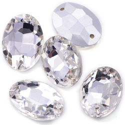 Oval Glass Strass Sew On Rhinestones стразы Pointback Sew on Diamond Crystal Glass Sewing Stones For Wedding Dress B3448