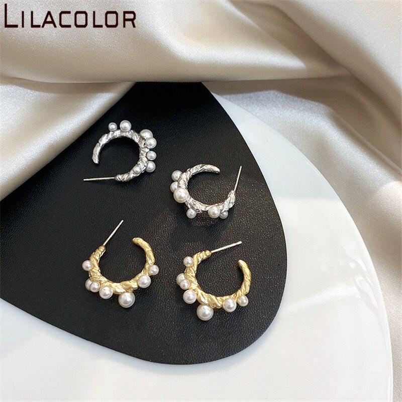 Studs Dangle Earring for Women Hollow Water Drop Earring Girls Vintage Earring Anti-allergy Stainless Steel Earring