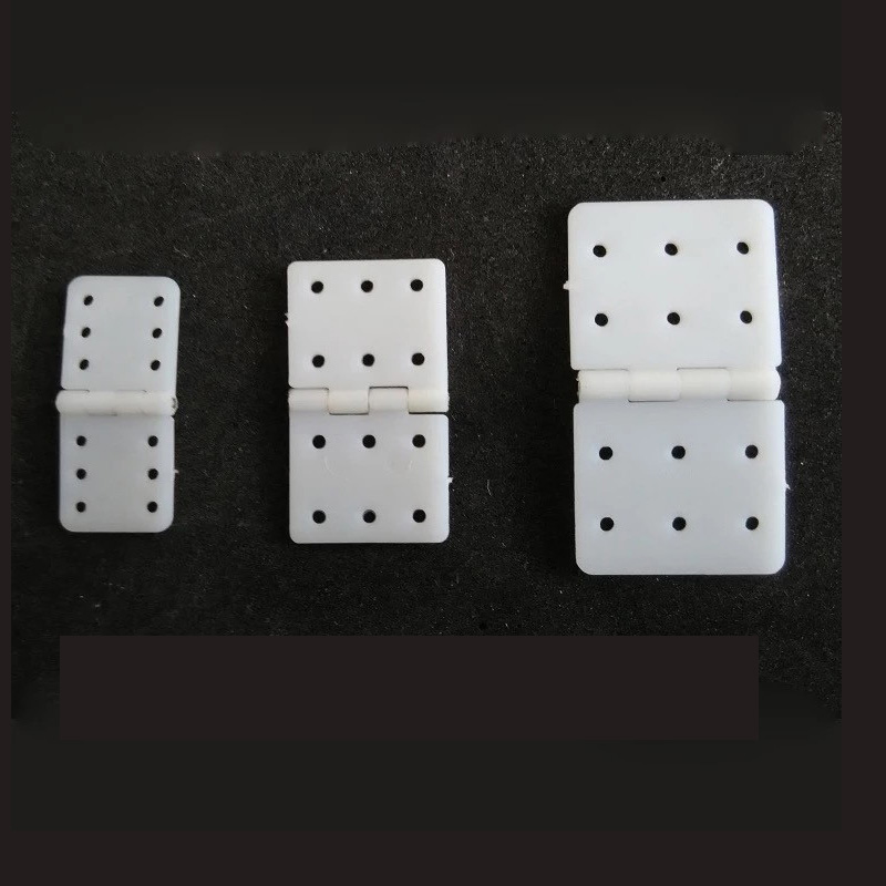 20pcs/lot Nylon & Pinned Hinge 20x36mm / 16x29mm / 12x24mm For RC Airplane Plane Parts Model Replacement
