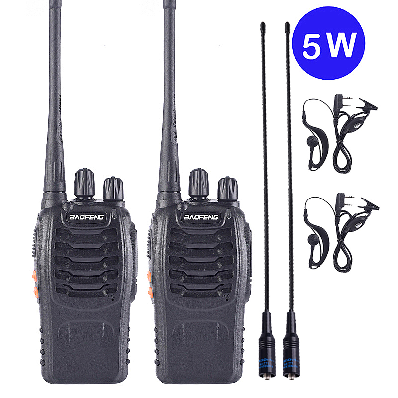 1PC 2PCS Baofeng BF-888S Walkie Talkie Portable Radio BF-888s 5W UHF 400-470MHz BF 888S Comunicador Transmitter Transceiver