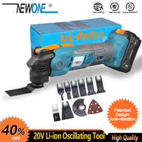 NEWONE 20V Li ion Cordless Quickchange Oscillating Tool Anti Vibration Patented Design Electric Trimmer Renovator Quick release