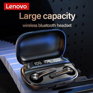 Image 4 - Lenovo QT81 Wireless Headphones TWS True Bluetooth Earphone Touch Control LED Display Big Battery 1200mAh Charging box