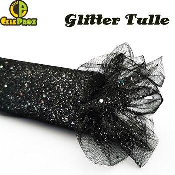 15cm 25Yards Glitter Tulle Roll Sparkly Sequin Mesh DIY Party Crafts Tutu Skirt Wedding Birthday Supplies