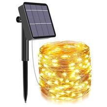 Solar String Fairy Lights 12m 100LED / 7M 50 LED Waterproof Outdoor Garland Solar Power Lamp Christmas For Garden Decoration