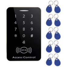 цена на M203SE RFID Standalone Touch Screen Access Control Card Reader With Digital Keypad 10pcs Keys Card For Home Apartment Factory