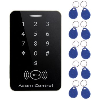 M203SE RFID Standalone Touch Screen Access Control Card Reader With Digital Keypad 10pcs Keys Card For Home Apartment Factory dwe cc rf touch screen wiegand 34 rfid reader access control with keypad