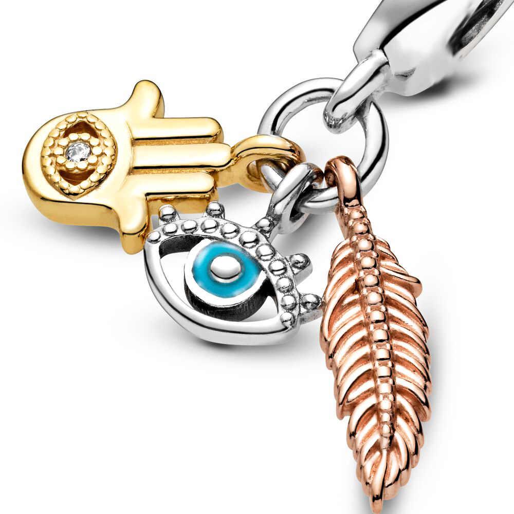 Baru Dnisy Lewatkan dan Gelandangan Liontin Fit Asli Pandora Charms Gelang Wanita Pulseiras Ciuman Anjing Beads untuk Perhiasan Membuat Hadiah DIY