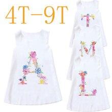 2021 Baby Girl Dresses Summer 21 Letters Girls Dress Kids Sleeveless Cute Birthday Party Vestidos Kids Clothes Sundress Novelty