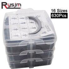 Moulding Clips Rivet-Fasteners Accessories-Kit Universal Plastic 630pcs 16-Sizes Push-Pin