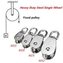 304 poulie en acier inoxydable M15 M20 M25 M32 roue unique pivotant corde de levage poulie roue de levage outils de roulement