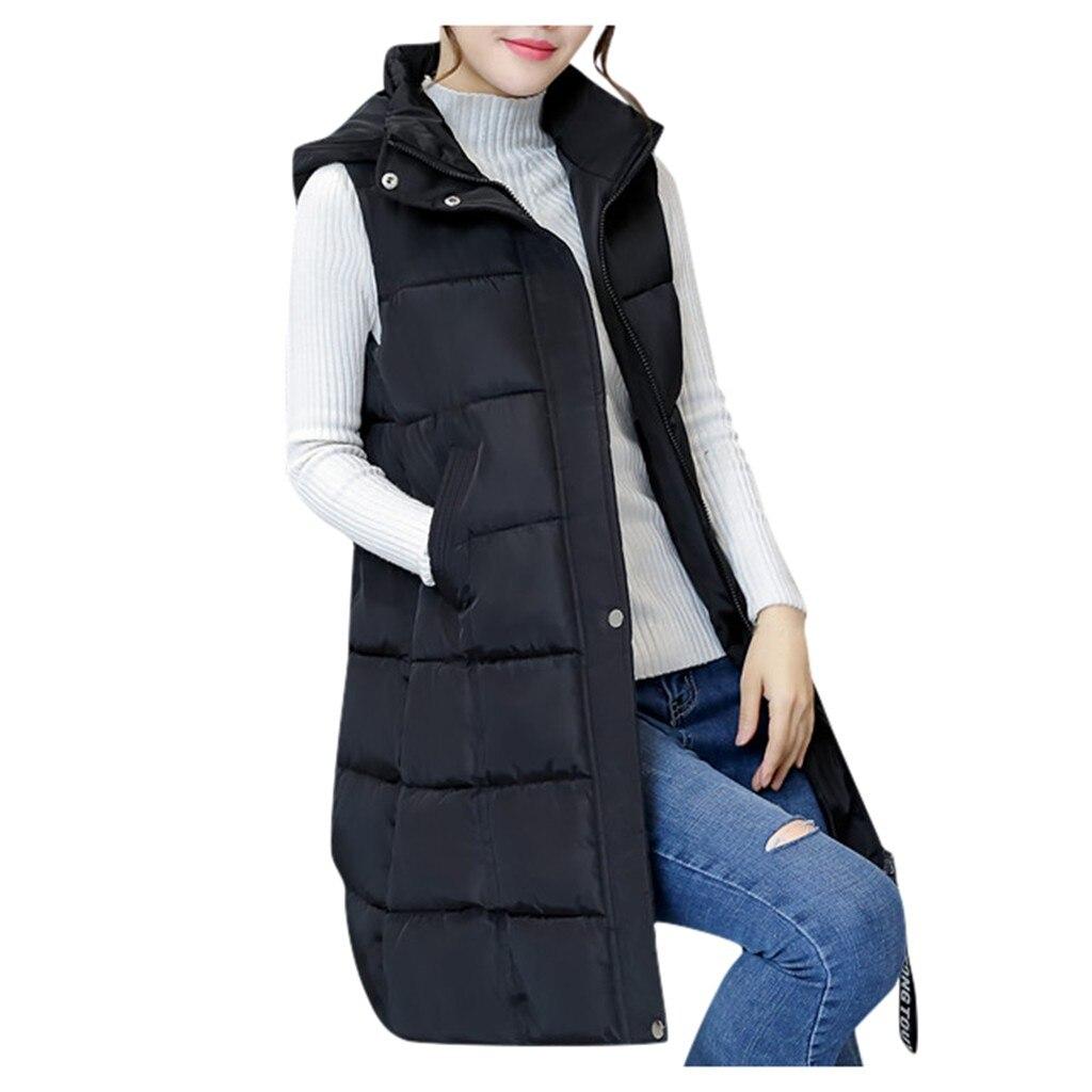 Лидер продаж, зимний жилет, женский модный свитер с капюшоном без рукавов, жилет, блузка, рубашки, теплое пальто, свитшот с длинным хлопковым ...