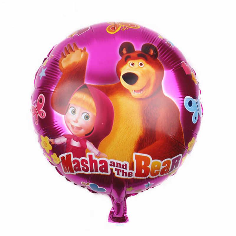 18 Inch Masha dan Beruang Balon Foil Perlengkapan Pesta Dekorasi Pesta Ulang Tahun Anak-anak Mainan Balon Udara Baby Shower