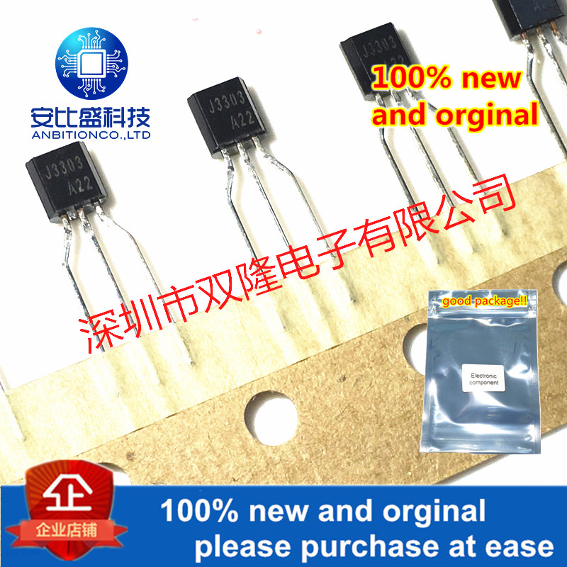 10pcs 100% New And Orginal FJN3303TA J3303 TO-92 NPN 1.5A/400V  In Stock