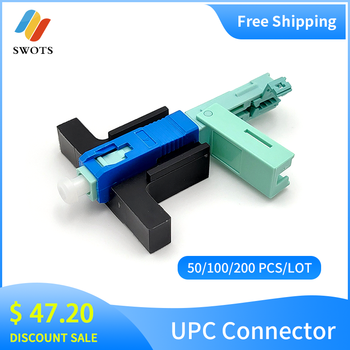 wholesale SC UPC Fast Connector Single-Mode Connector FTTH Tool Cold Connector Tool Fiber Optic Fast Connnector 53mm