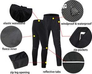 Image 4 - Мужская зимняя теплая велосипедная куртка ARSUXEO, комплект, ветрозащитная Водонепроницаемая теплая велосипедная куртка, брюки для горных велосипедов, велосипедный костюм, одежда для велоспорта 20A