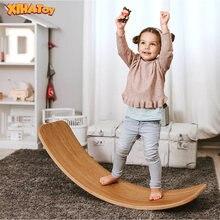 Балансировочная доска для детей Йога деревянная детская игрушка
