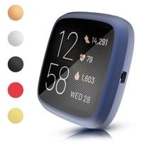 Funda de Tpu mate Flexible resistente a arañazos para Fitbit Versa 3, 2, caja de reloj inteligente, carcasa protectora de pantalla, parachoques fino