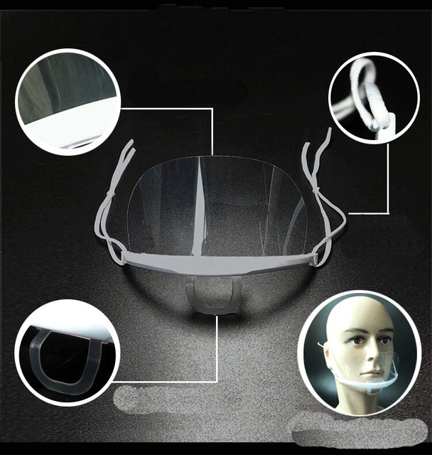 Safe Virus Protective Face Shield Mouth Mask Full Face Shield Anti Droplets Saliva Splash-proof Covering Mouth Facial Shield 2