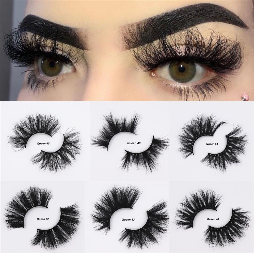 3D 25mm Long  Mink Eyelashes Cruelty Free  Lashes Mink Lashes Soft Big Dramatic Volumn Strip Thick Fluffy  False Eyelash  Makeup