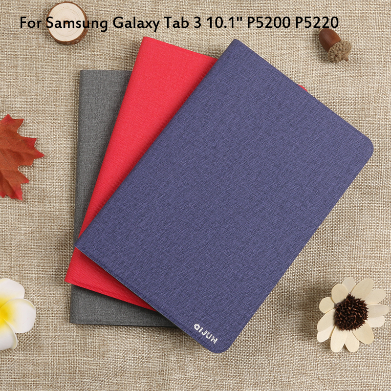 Flip Case For Samsung Galaxy Tab 3 10.1 Inch P5200 P5220 Cover Tablet Case Tab3 10.1 Full Protective Pouch Bags