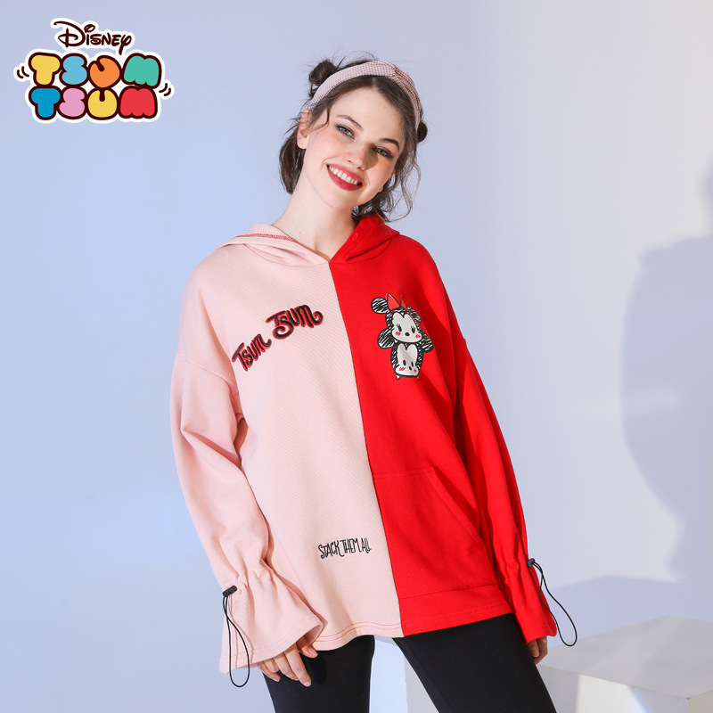 Original Disney Children's Clothing Women's Minnie New Hoodie Long Sleeve Top Student Sweatshirt hoodies  sweatshirt women