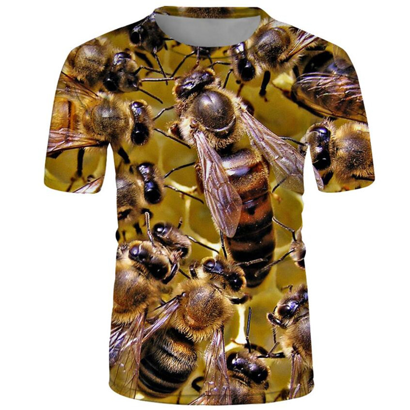 Anime 3d print t shirt streetwear animal bee Men Women dj fashion t-shirts kids Harajuku honey tees Funny shirts homme Tees tops