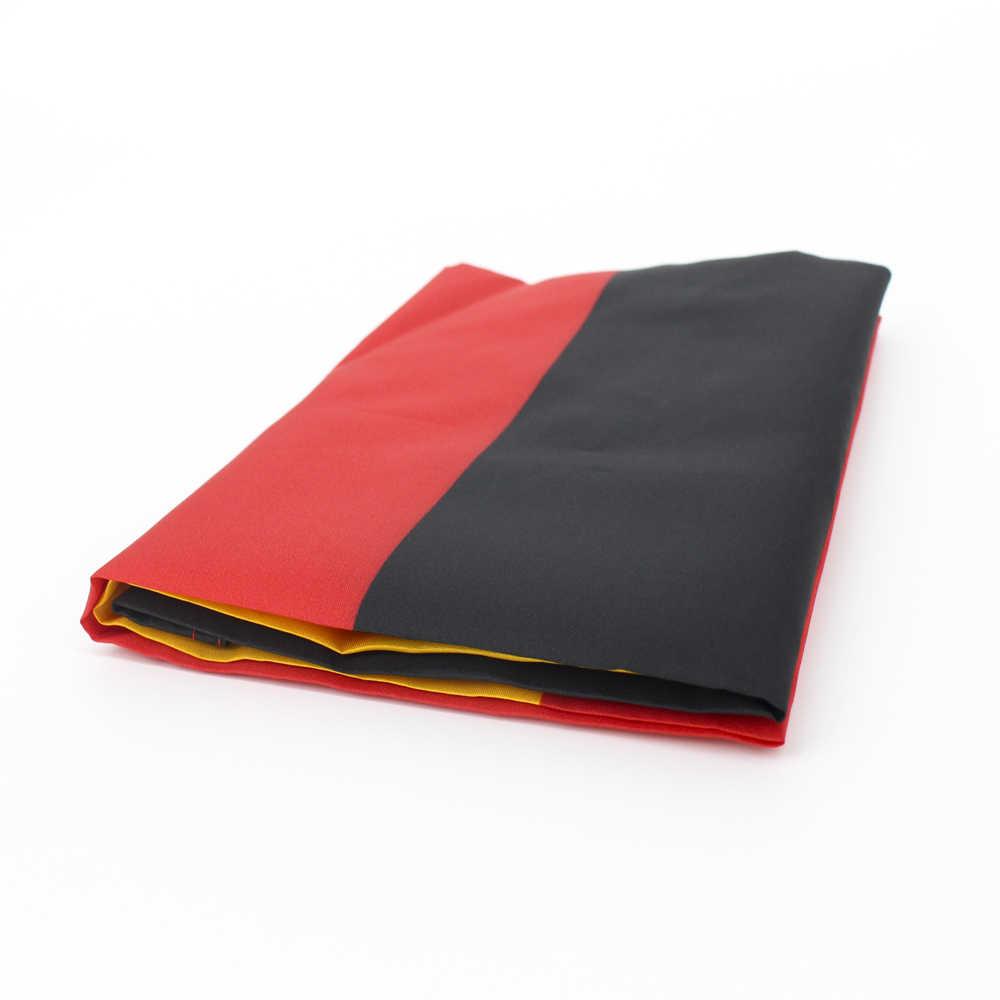Flaglink 3x5fts 90x150cm czarny czerwony żółty de deu niemiecka flaga niemiec