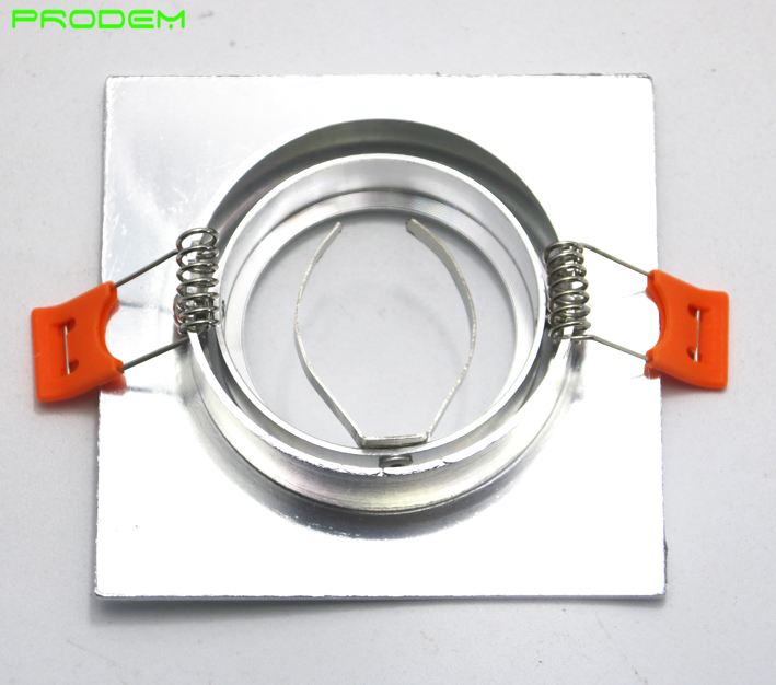 DIY KITS 6 PACK kvadrat alüminium MR16 GU10 sahibi çərçivə dia - İşıqlandırma aksesuarları - Fotoqrafiya 4