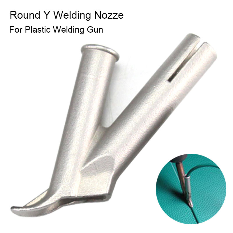 Round Y Hot Gun Nozzle Plastic Speed Welding Tip Leister Vinyl Welder Tools Nozzle For Welding Polypropylene Polythene PVC ABS