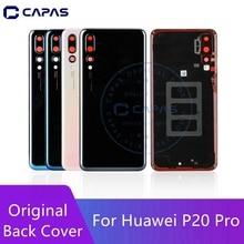 Original para huawei p20 pro voltar bateria capa + lente de vidro da câmera para huawei p20 pro bateria traseira porta substituição