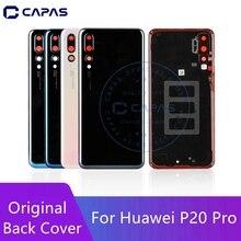 Original pour Huawei P20 Pro couvercle de batterie arrière + lentille en verre de caméra pour Huawei P20 Pro remplacement de couvercle de porte de batterie arrière