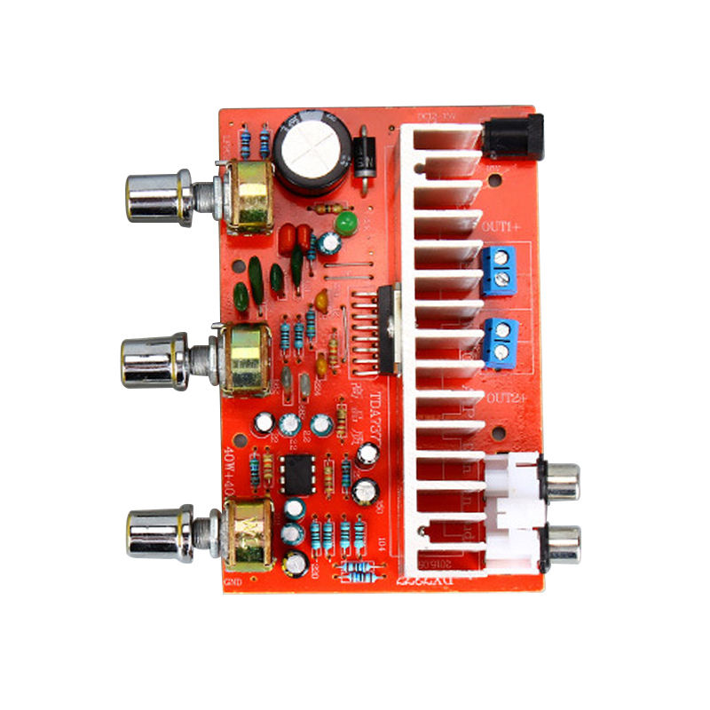 FFYY-12V Tda7377 Audio Amplifier Board 40W+40W 2.0 Channel Stereo Amplificador For 3-6 Inch Bookshelf Speaker Diy
