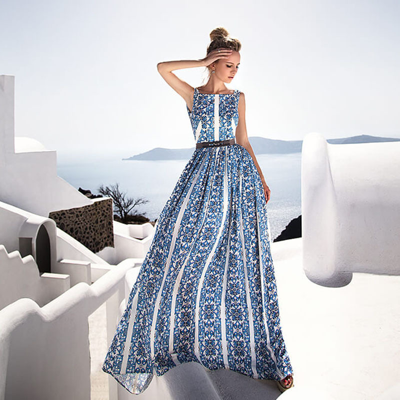 Fashion Office Lady  Maxi Party Club Dresses For Women  Solid O Neck  Summer Dresses Sleeveless Maxi Long Vestidos Femme 4