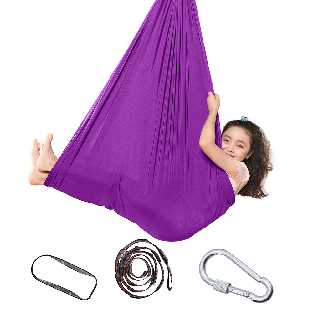 1m/1.5m Kids Outdoor Indoor Swing Hammock For Cuddle Up To Sensory Child Therapy Soft Elastic Parcel Steady Seat Swing