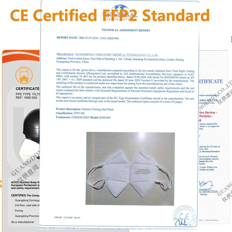 Mascarillas ffp2réutilisable FFP2 respirateur 5 couches kn95 masque filtrant ffpp2 masques FPP2 ffp2masque facial bouche fp2 approuvé 6