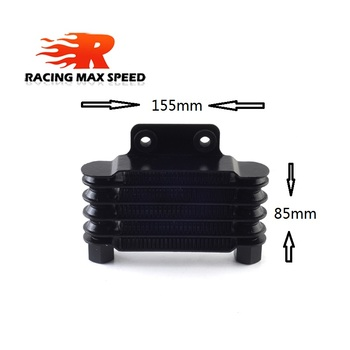 цена на High Quality Universal  Motorcycle Small Oil Cooler 158 mm 5 row silver and black SO-02
