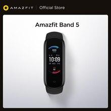 Смарт-браслет Amazfit Band 5 с цветным дисплеем, водонепроницаемый фитнес-трекер, Bluetooth 2020, спортивный смарт-браслет, новинка 5,0