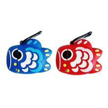 Cute Carp Pattern Protective Case Silicone Cover with Carabiner for AirPods 1/2 for smart watch стоимость