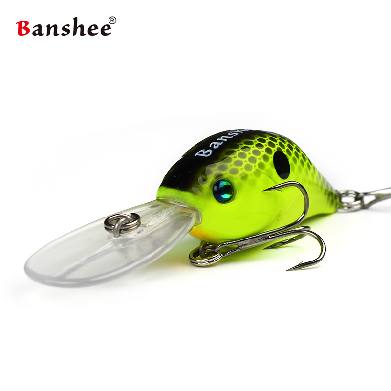 Banshee 53mm 10g Rattle Hard Lure Fishing Artificial Bait Pike Fishing Crankbaits Cranks/Sinking Wobblers For Trolling