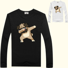 DMDM PIG Children Winter T Shirt Dabbing Funny Cartoon Long Sleeve T-Shirts For Boys Girls Tops Kids Tshirts 2 3 4 5 6 7 8 Years boys t shirts for clothes autumn turndown collar pullover children long sleeve spring school uniform t shirt 4 6 8 10 12 years