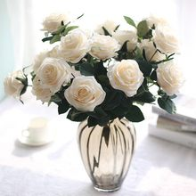 European Style Artificial Flower Artificial Bouquet 10 French Roses Bouquet Decoration Living Room Decoration Dining Table
