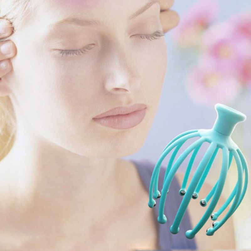 Handheld Scalp Massager with 12 Flexible Tentacles with Scrollable Steel Balls Provides Better Massage Experience 1